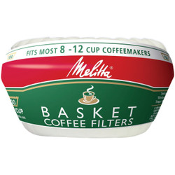 Melitta 8-12 Cup White Basket Coffee Filter (100-Pack) 62993 Pack of 48