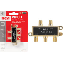RCA 4-Way Coaxial Splitter VH49R Pack of 6
