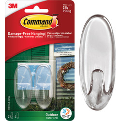 Command Medium Adhesive Outdoor Window Hook (2-Pack) 17091CLR-AWES Pack of 24