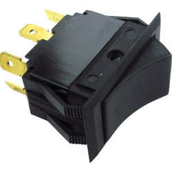 Seachoice 15A 12V Black Rocker Switch, On/Off/On 12431 Pack of 12
