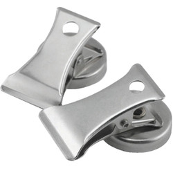 Master Magnetics 1 In. Dia. Chrome Magnetic Note Holder Clip (2-Pack) 07219 Pack of 72