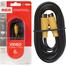 RCA 6 Ft. S-Video Cable VH976R Pack of 6