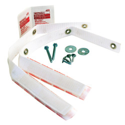 QuakeHold 15 In. White Anti-Fall Furniture Straps (2 Count) 4164 Pack of 4