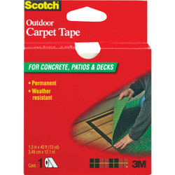 3M Scotch 1-3/8 In. x 40 Ft. Heavy Duty Carpet Tape CT3010 Pack of 4