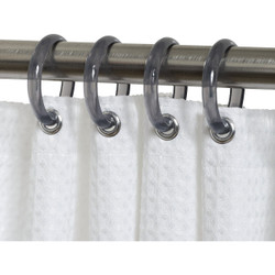 Zenith Zenna Home Chrome Plastic Shower Curtain Ring (12 Count) SSR001NT Pack of 8