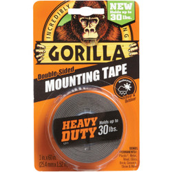 Gorilla 30lb Blk Mounting Tape 6055002 Pack of 6