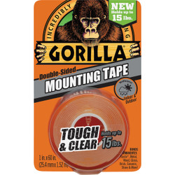 Gorilla 15lb Clr Mounting Tape 6065003 Pack of 6
