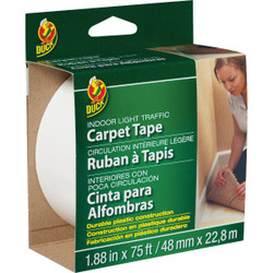 Duck Light Traffic 1.88 In. x 75 Ft. Indoor Double Sided Carpet Tape 286377 Pack of 12