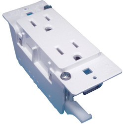 United States Hardware 15A White Mobile Home 5-15R Duplex Outlet E-120C Pack of 12