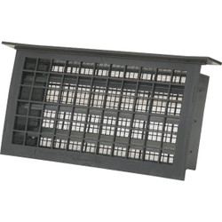 Witten 8 In. x 16 In. Black Automatic Foundation Ventilator with Lintel 304LBL Pack of 12