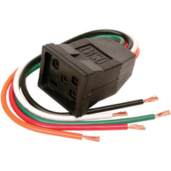 Dial 115V & 230V/15A Pigtail Motor Receptacle for 1 or 2-Speed Motors up to 1 HP Pack of 6