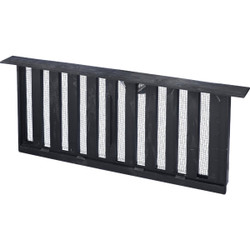 Witten PMS-1 8 In. x 16 In. Black Manual Sliding Foundation Vent with Lintel Pack of 12