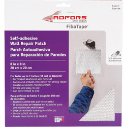 FibaTape 8 In. x 8 In. Wall & Ceiling Self-Adhesive Drywall Patch FDW6714-U Pack of 24