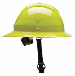 Bullard Fire Helmet,Lime-Yellow,Thermoplastic  FHLYR