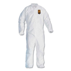 Kleenguard A30 Elastic-Back and Cuff Coveralls, White, Large, 25/Carton 46103