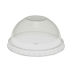 Pactiv Dome Lid W/No Hole 9/12-14/16tall, 20oz YPDL20CNH