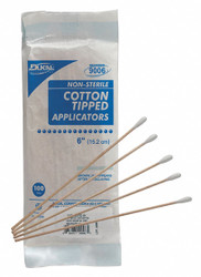 First Aid Only Cotton Tip Swab,Non-Sterile,6 in.,PK100  90933