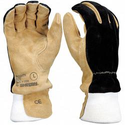 Shelby Firefighters Gloves,M,Pigskin,PR  5002 MEDIUM