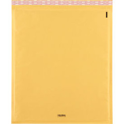 """Global Industrial Self Seal Bubble Mailers, #7, 14-1/2""""W x 20""""L, Gold, 50/Pack"""