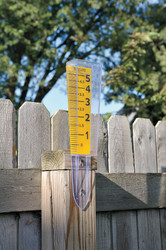 Taylor Rain Gauge,0 to 5 in.,Polycarbonate  2702-35