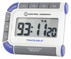 """Traceable Multi-Colored Timer,5/8"""" LCD  5012"""