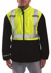Tingley Hi-Vis Fleece Jacket,Lime/Blk,XL  J73022-XL