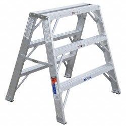 Werner Work Stand,36 In H,300 lb.,Aluminum  TW373-30