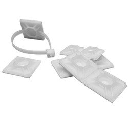 """ACT Mounting Bases, 3/4"""", Rubber Adhesive, Natural, 100/Pkg"""