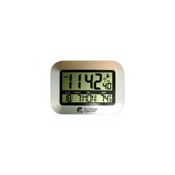 "Chicago Lighthouse 9.75"" Digital Atomic Clock with Calendar and Indoor Temperatu"