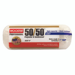 """9"""" 50/50 lambswool/polyester 1"""" nap roller cover"""