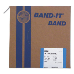 316 Stainless Steel Band, 3/4 in W X 100 Ft L, 0.03 in Thick, 316 Stainless Steel