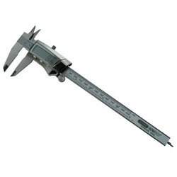 Digital/Fraction Electronic Caliper, 0-8 In, Stainless Steel