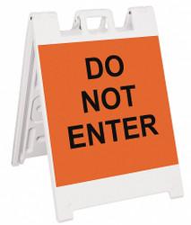 Sim Supply Barricade Sign,Do Not Enter,36H In  136-WLGQ2424-OBEG