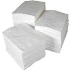 """SPC® Basic® Oil Only Heavy Weight Pads, 15"""" x 17"""", White, 100/Bale"""