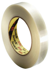 Scotch Filament Tapes 898, 0.47 in X 60 Yd, 380 Lb/in Strength, Clear