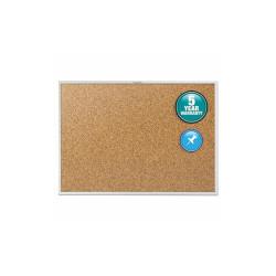 Quartet Classic Series Cork Bulletin Board, 60 X 36, Silver Aluminum Frame 2305