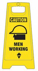 Tough Guy Floor Sign,Yellow,Polypropylene,24 in H  6DMG6