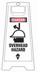 Tough Guy Floor Sign,White,Polypropylene,24 in H  6DMG0