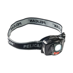 Headlamps, 3 Batteries, Aaa, 12 Lm (Low), 200 Lm (High), Black