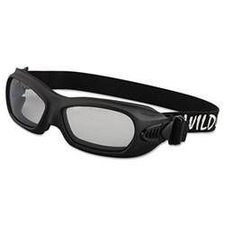 Kleenguard V80 Wildcat Safety Goggles, Black Frame, Clear Lens 20525