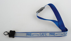 Quality Resource Group Lanyard,Reflective,Proud To Be Safe,PK10  23GLYPS