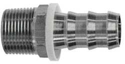 Barbed Push-on Hose Fittings, 1/4 in X 1/4 in (Npt)