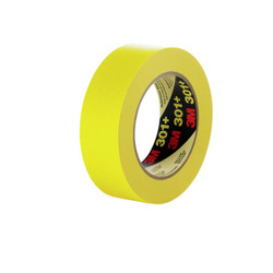3M Performance Yellow Masking Tape 301+, 48 mm x 55 m 6.3 mil, 24 per case