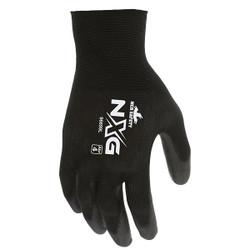 MCR Safety® NXG® PU Coated Work Gloves, X-Large, Black, 12/Pair