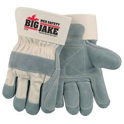 MCR Safety® Big Jake® Premium A+ Side Leather Work Gloves