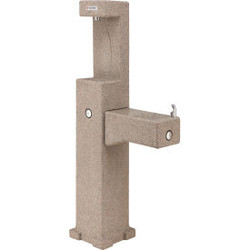 Global Industrial Outdoor Drinking Fountain with Bottle Filler, Rotocast Granite