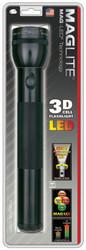 Led D-Cell Flashlight, 3 D, Black