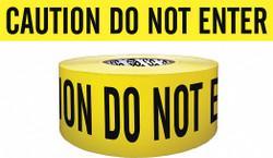 Sim Supply Barricade Tape,Yellow/Black,500ft x 3 In  B354Y9-200