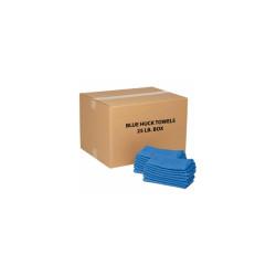 Global Industrial 100% Cotton Blue Huck Towels, 25 Lb. Box