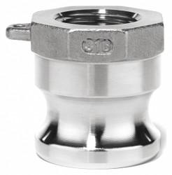 "Usa Sealing Cam and Groove Adapter,2-1/2"",304 SS  BULK-CGF-271"
